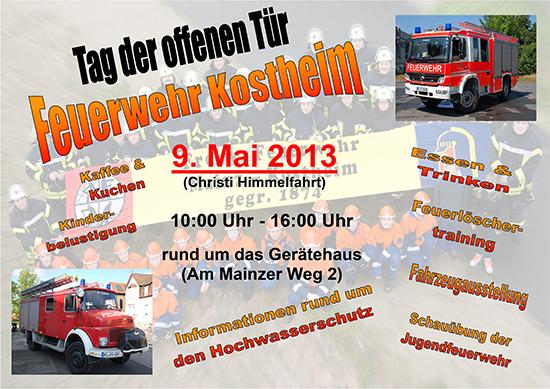 Plakat Tag der offenen Tür 2013