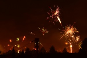 Feuerwerk über Kostheim